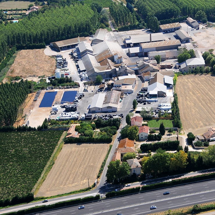 Our production plant in the south-east of France